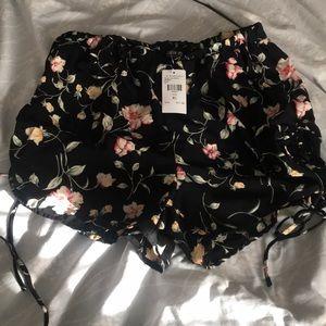 Brand New Fashion Nova Flower Love Shorts